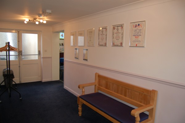 Certificates and Quiet Seating Area